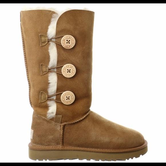13facb6b6e4 UGG Bailey Button tall Triplet II boots chestnut 9